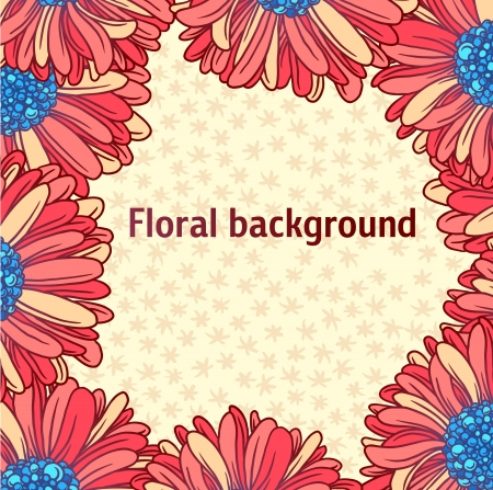 corolla: Background of colorful beautiful flowers   Illustration