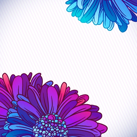 gerber: Background of colorful beautiful flowers gerber  Beautiful pink Gerber Daisy   Illustration