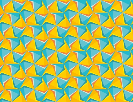 hexagon geometric saemless background.  Retro hipster blue yellow backgrounds. greeting card Vector