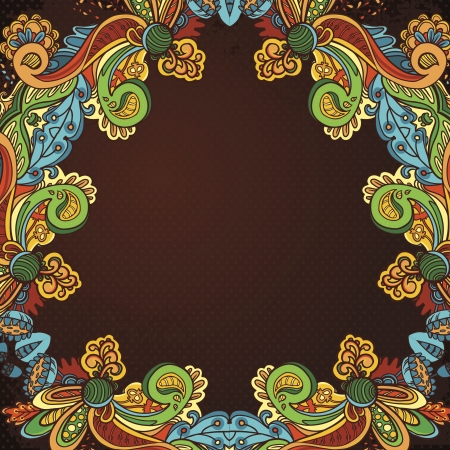 Abstract floral ornament with many details. Excellent vintage background for your greeting card