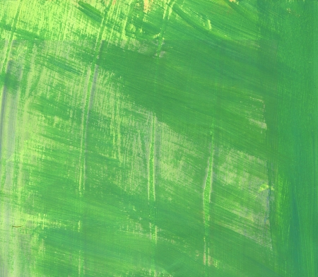 acyclic: green paint raster background. white brash strokes texture