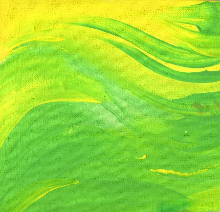 acyclic: raster color background with bright and dark acrylic brash stroke. Abstract hand drawn paint image. raster illustration in green and yellow colors.