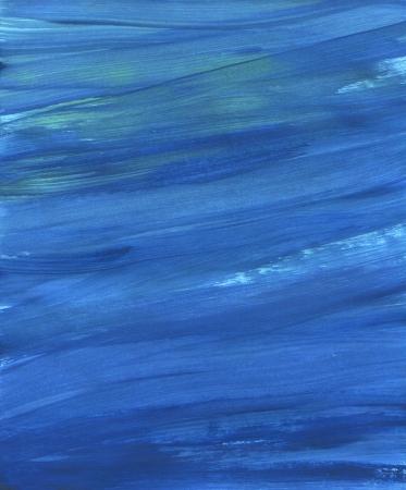 blue paint raster background. yellow brash strokes texture Archivio Fotografico