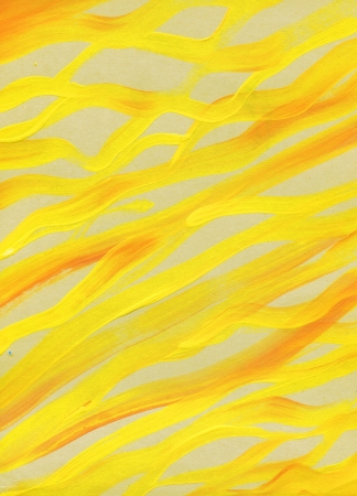 paint raster background  yellow brash strokes texture Stock Photo