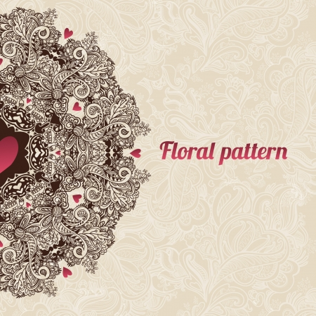 Abstract floral ornament with many details  Excellent background for your greeting card Vector