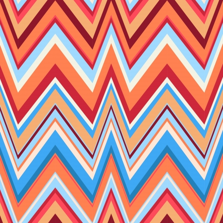 Ethnic zigzag pattern in retro colors, seamless  background  Hipster background Vector