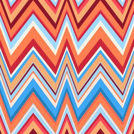 Zigzag ethnique dans des couleurs rétro, fond transparent Hipster fond Banque d'images - 21014458