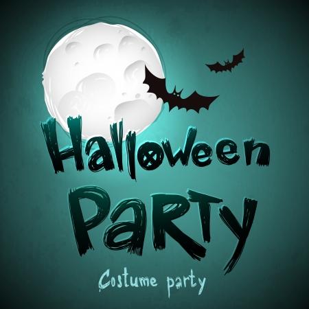 halloween message: Happy Halloween message design background Illustration