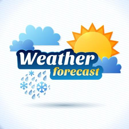 weersvoorspelling illustratie Stock Illustratie