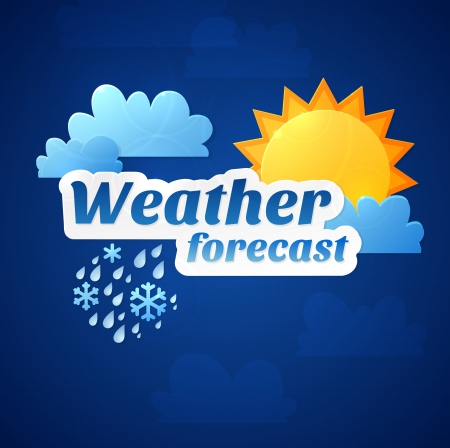 weather forecast illustration Vector