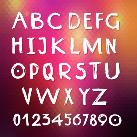 impetuous: Traced illustration af a handmade english alphabet  Can be easily colored and used in your design