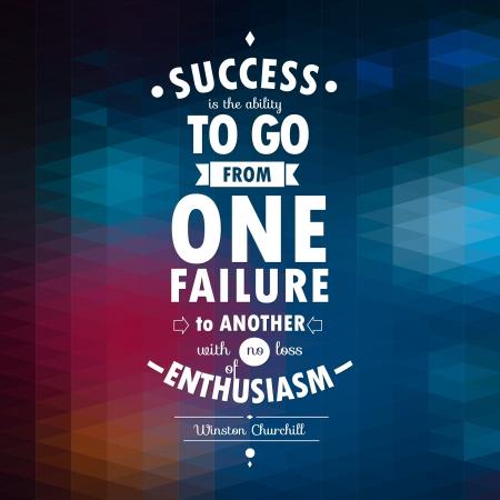Contexte Illustration typographique avec citation de Winston Churchill Banque d'images - 22301402