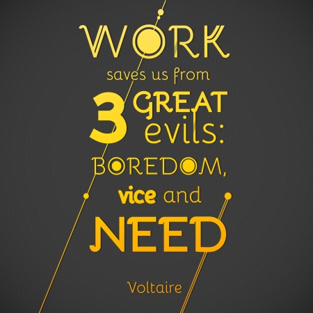 Typographical Background Illustration with quote of Voltaire