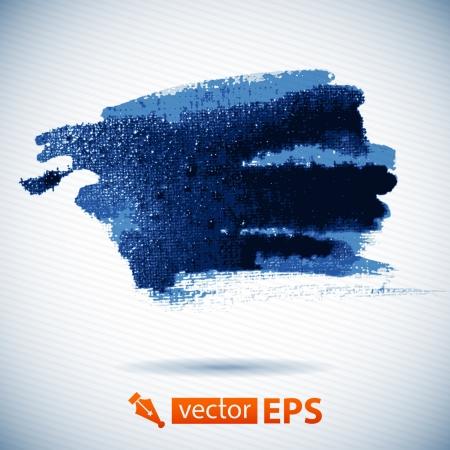 Vector watercolor ink spot  Blue wet brushstroke on canvas texture   paper template  Water  Wet paper  Blobs, stain, paints blot  Abstract  Composition for scrapbook elements Brushstrok es  Banner  Ilustração