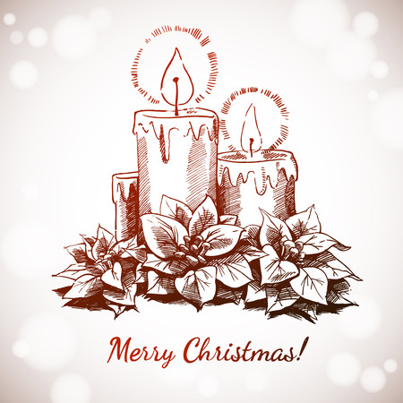 Christmas and New years holidays Vector