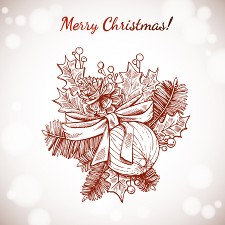 Christmas and New years holidays vector  Vector