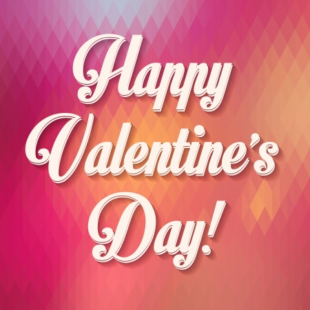 Happy Valentine s Day Hand Lettering - Typographical Background