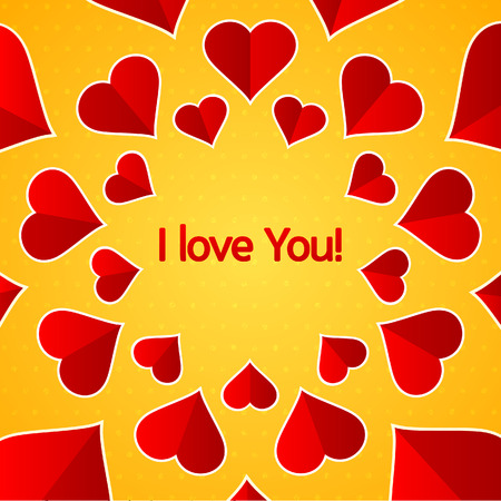 I love You with hearts design Banco de Imagens - 25773325