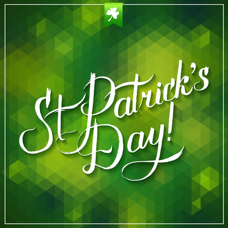 saint patrick's day: Saint Patrick s Day Typographical Background