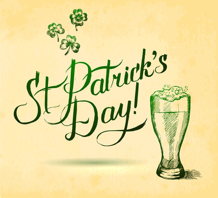 paddy: Saint Patrick s Day Typographical Background
