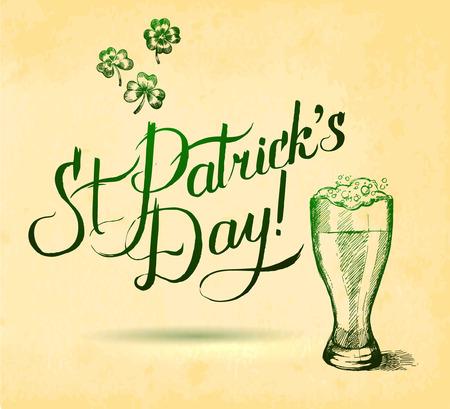 saint patrick��s day: Saint Patrick s Day Typographical Background