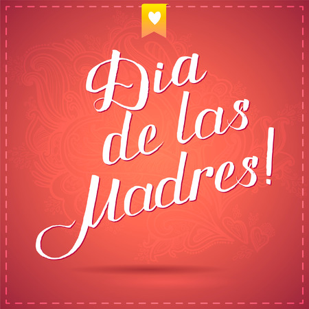 salutations: happy mothers day card with calligraphy. vector illustration