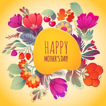 Happy Mother s Day Card  Ilustração