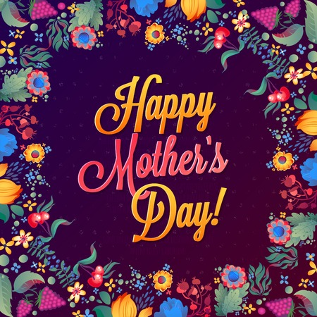 Happy Mother s Day Card  Vector