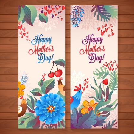 Fête des Mères! Motif fleurs carte décoratif illustration Banque d'images - 28068466