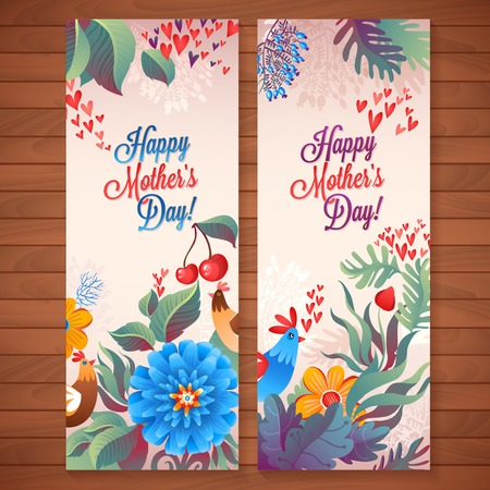 Happy Mother's Day! Flowers pattern decorative card illustration Vettoriali