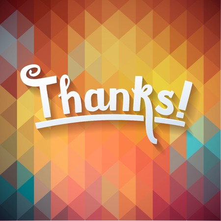 you are welcome: Thank you card on colorful magic geometric background