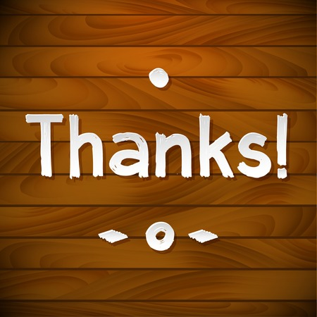 you are welcome: Thank you card on wood background Illustration