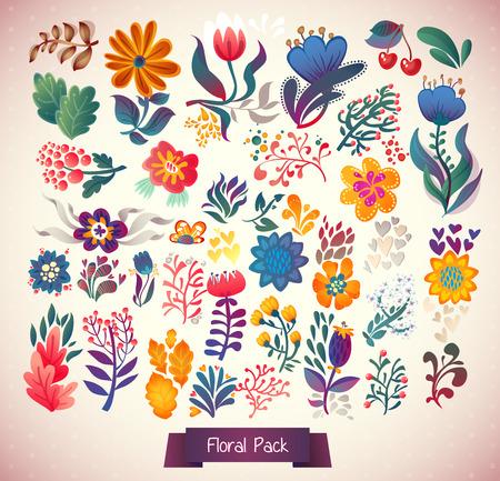 elegância: Jogo de elegance flores