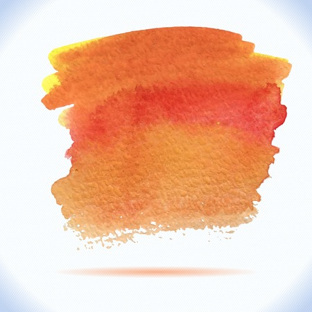 Vector  autumn colors watercolor decorative wash drop Abstract hand drawn watercolor background, for backgrounds or textures Ilustração