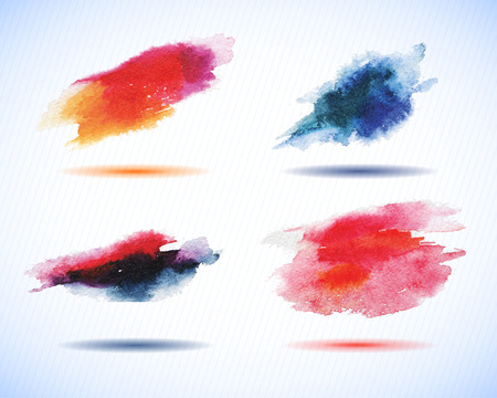 water filter: Vector watercolor stains decorative wash drop set. Abstract hand drawn watercolor background, for backgrounds or textures