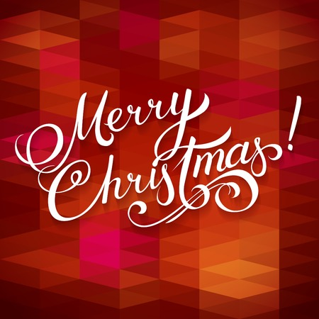 upscale: MERRY CHRISTMAS hand lettering -- handmade calligraphy, vector