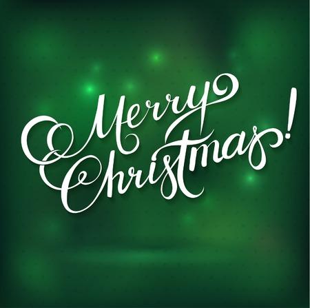 MERRY CHRISTMAS hand lettering -- handmade calligraphy, vector