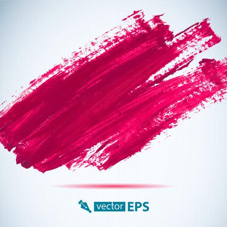 Vector acrilico rosa macchia d'inchiostro. Wet tratto di pennello su carta di texture. Pennellate a secco. Composizione astratta per elementi di design Archivio Fotografico - 38165889