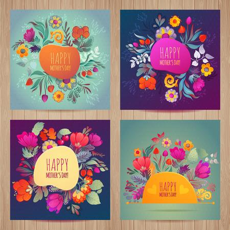 personas saludandose: Tarjeta de felicitaci�n feliz del d�a de madres