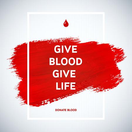 創造的な献血者デー動機の情報ドナーのポスター。献血。世界献血者デーのバナーです。赤い線とテキスト。医療のデザイン要素です。グランジ テ