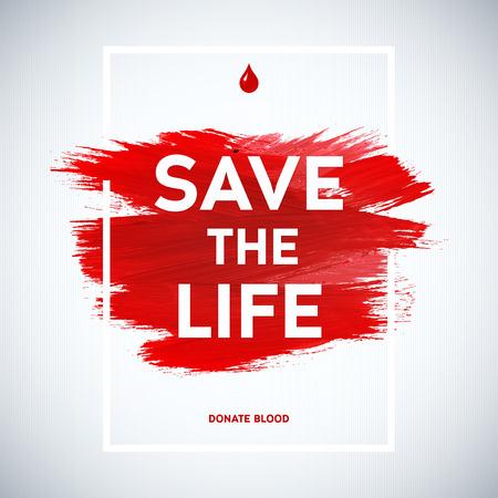 donacion de organos: Donante de sangre cartel informativo motivación Día donante creativo. Donación De Sangre. Mundial del Donante de Sangre Día bandera. Movimiento rojo y el texto. Elementos de diseño médica. Textura Grunge.