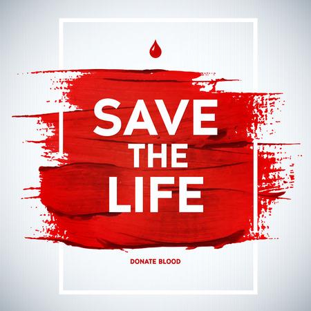 Donante de sangre cartel informativo motivación Día donante creativo. Donación De Sangre. Mundial del Donante de Sangre Día bandera. Movimiento rojo y el texto. Elementos de diseño médica. Textura Grunge. Foto de archivo - 40912186