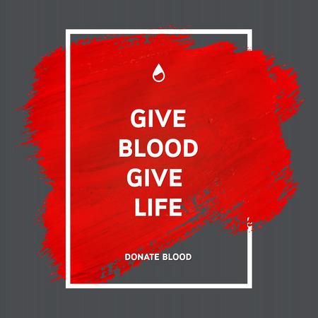 donacion de organos: Creativo Donar sangre motivación poster información de los donantes. Donación De Sangre. Mundial del Donante de Sangre Día bandera. Movimiento rojo y el texto. Elementos de diseño médica. Textura Grunge.