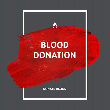 donacion de organos: Creativo Donar sangre motivaci�n poster informaci�n de los donantes. Donaci�n De Sangre. Mundial del Donante de Sangre D�a bandera. Movimiento rojo y el texto. Elementos de dise�o m�dica. Textura Grunge.