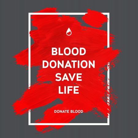 donor: Creativo Donar sangre motivaci�n poster informaci�n de los donantes. Donaci�n De Sangre. Mundial del Donante de Sangre D�a bandera. Movimiento rojo y el texto. Elementos de dise�o m�dica. Textura Grunge.