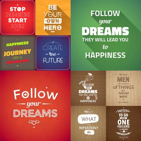 Typographical Background Illustration Quote Pack Vector