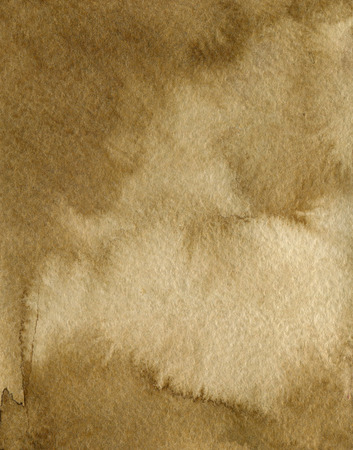 brown background: Watercolor Coffee Color Water Paper Background. Abstract brown raster illustration. Stock Photo
