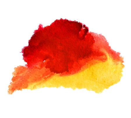 splutter: Abstract isolated watercolor stain wet vector texture