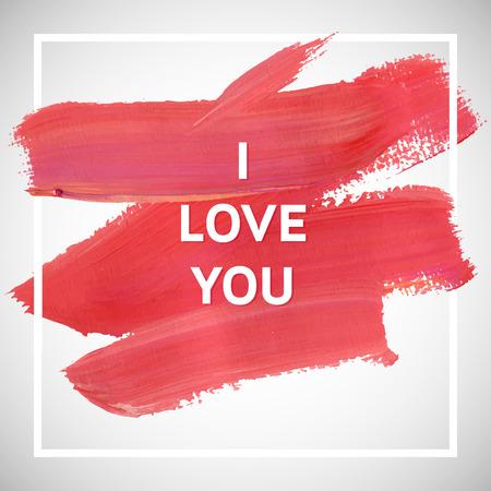 愛の動機はスクエア アクリル ストローク ポスターです。心に強く訴えると言ってのテキスト レタリング。 引用表記ポスター テンプレート、ベク  イラスト・ベクター素材