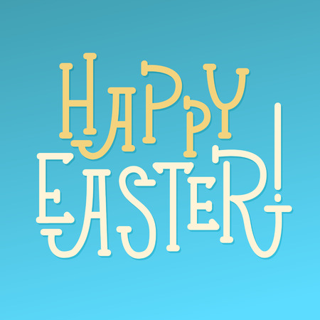 godness: Happy Easter Greeting Calligraphy Card. Best Whishes Illustration